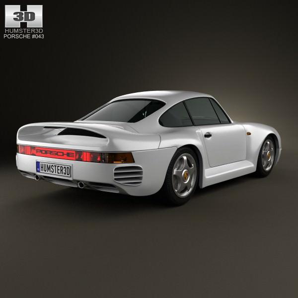 3d Model Porsche 959 1986 Cgtrader
