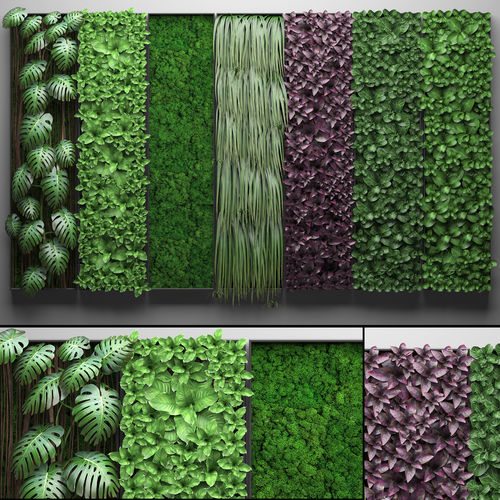 vertical gardening collection 3d model max obj mtl fbx 1