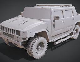 3D print model Hummer H2 SUT