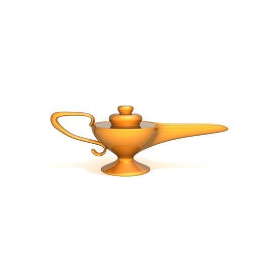 aladdin magic lamp cartoon 3d model max obj mtl fbx ma mb 1