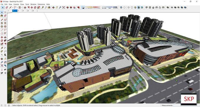 Sketchup Commercial complex D10 | 3D model