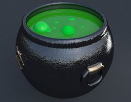 Witchcraft cauldron 3D model
