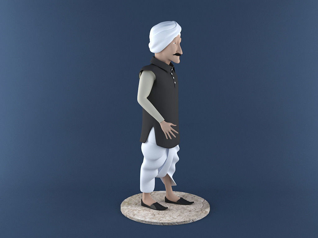 Indian Farmer 3d Printable Model 3d Model 3d Printable Stl