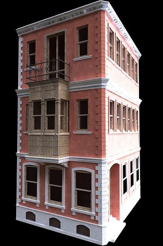 3d Exterior House Designs: Old Building Free 3D Model