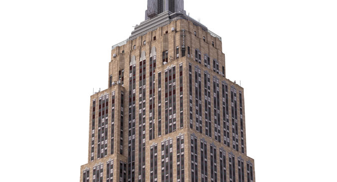 empire state building 3d model low-poly max 3ds fbx 1