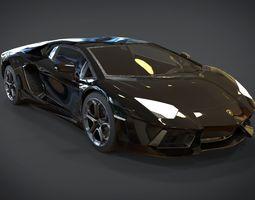 Lamborghini Aventador road 3D model VR / AR ready