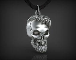 platinum Pendant Skull 01 3D printable model