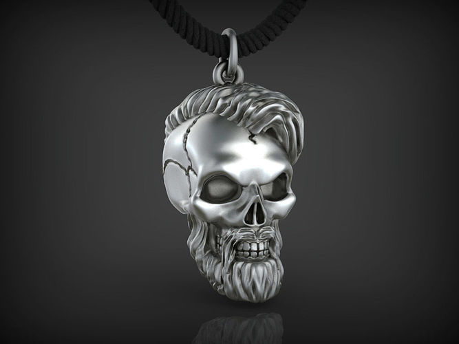 pendant skull 01 3d model stl 1