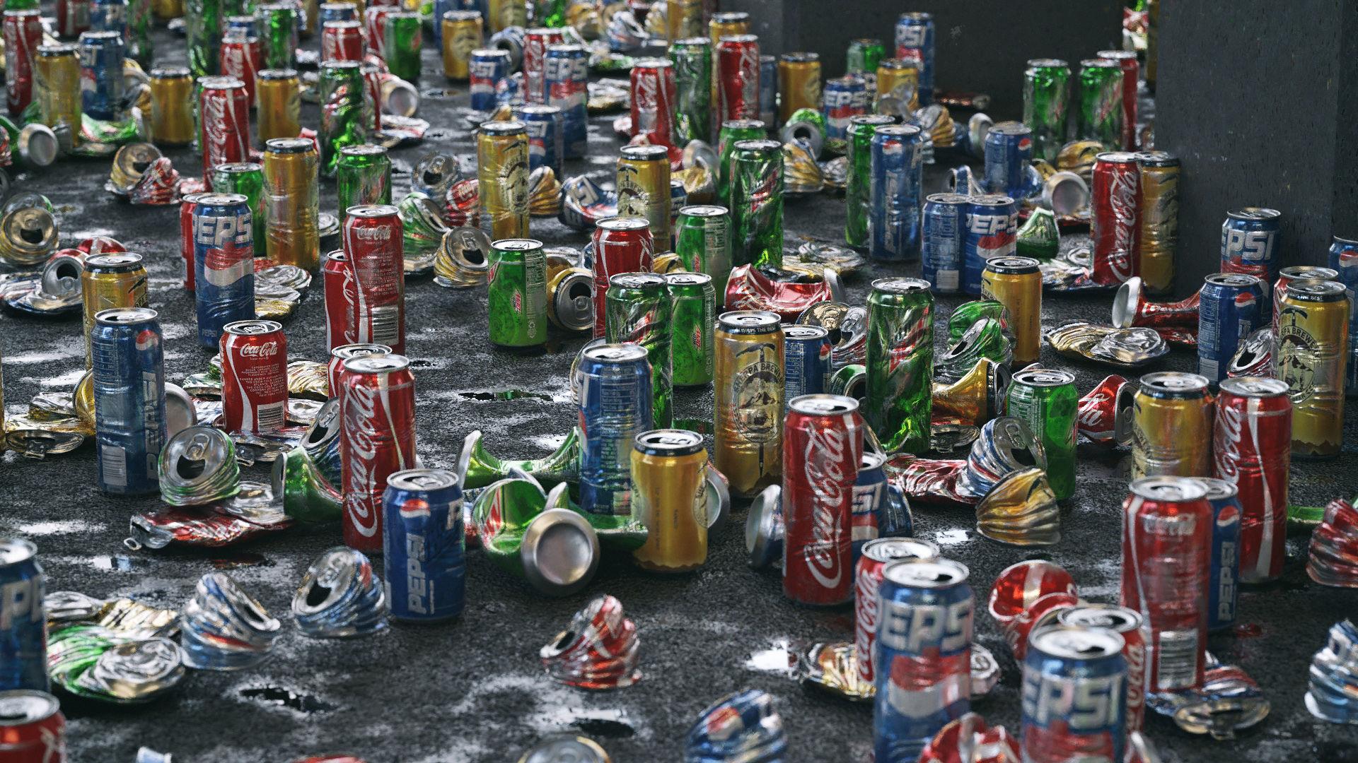 Trash Cans Garbage 24 Types - 3D Asset Kit PBR