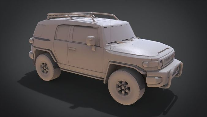 toyota fj cruiser 2015 3d model obj mtl fbx stl blend x3d ply 1