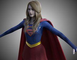 3D model animated BizarroGirl - Bizarro Supergirl