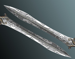 3D asset Fantasy Sword