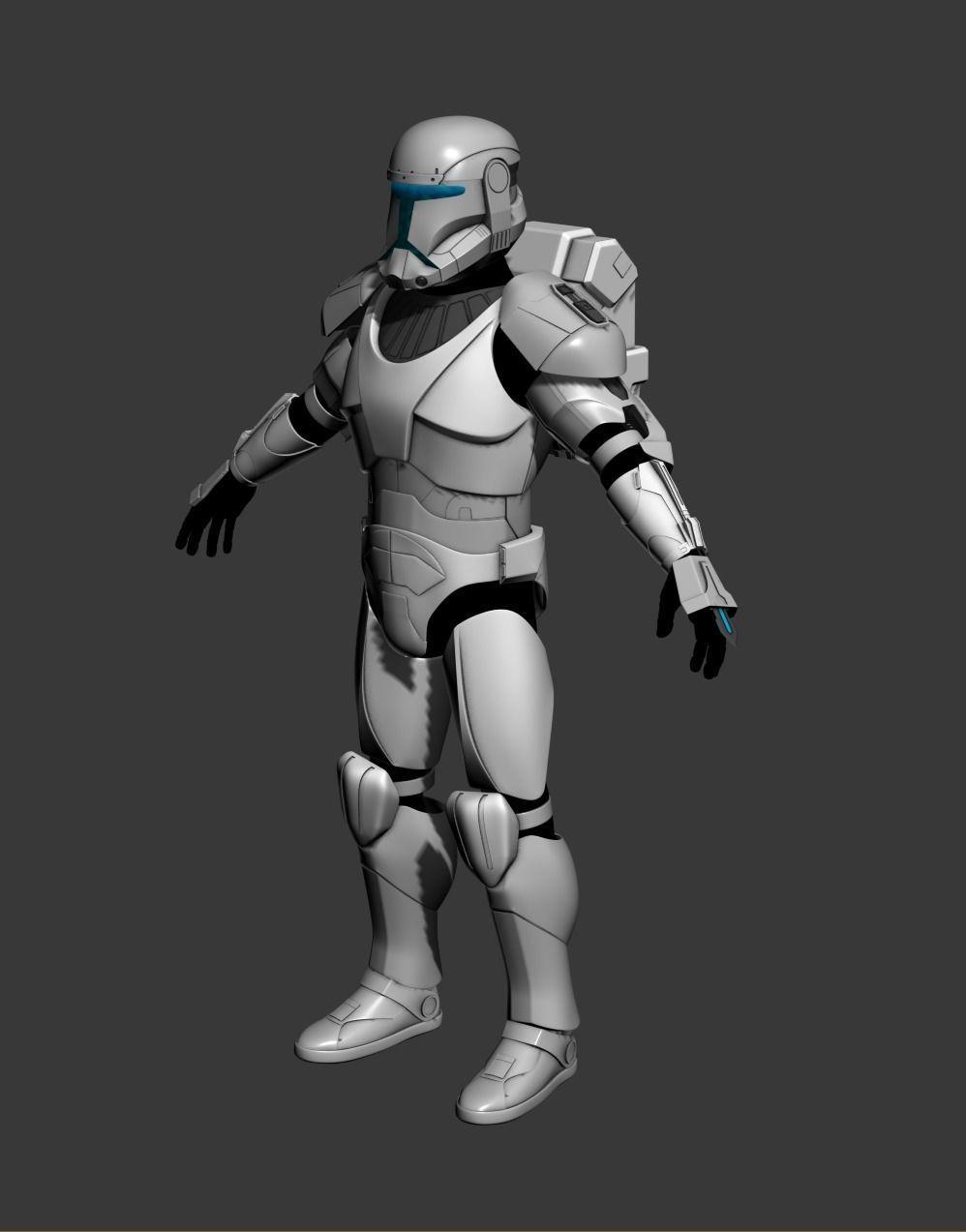 Republic Commando Cosplay 3D Print Model