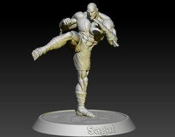 Street Fighter Sagat 3D print model