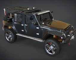 jeep wrangler unlimited rubicon off road 3d model VR / AR ready