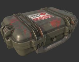3D asset realtime Military Case First Aid Kit