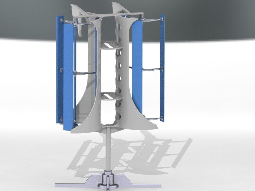 Vertical Axis Wind Turbine 3d Model - Imagez co