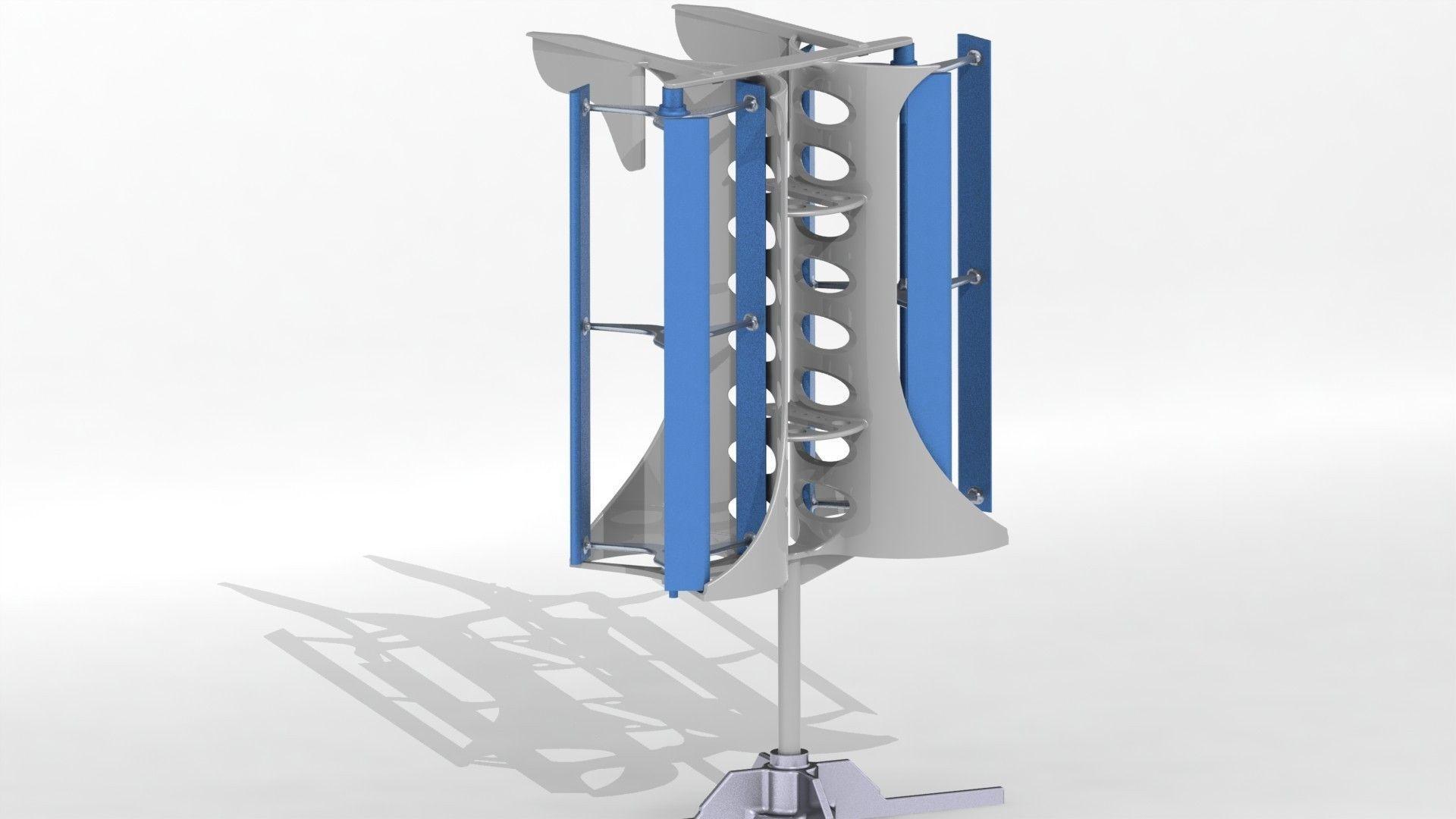 vertical axis wind turbine vawt free 3d model stl