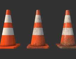 3D asset Traffic Cones Construction Set