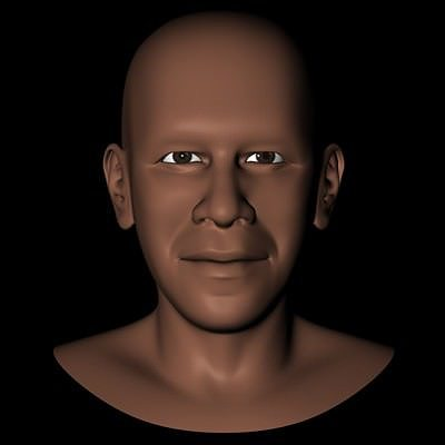 president barack obama head 3d model obj 3ds fbx c4d dxf X 1
