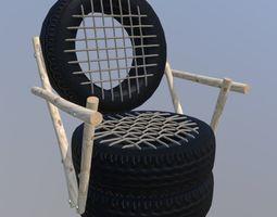 3D model Tire Chair