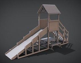 Winter childrens wooden hill 3D printable model