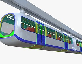 Monorail train II passenger 3D