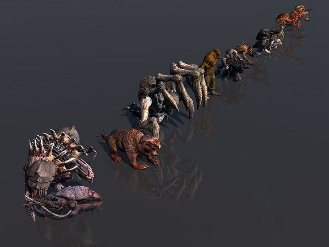 pack of 14 fully animated monsters 3d model rigged animated obj mtl 3ds fbx c4d dae tga 1