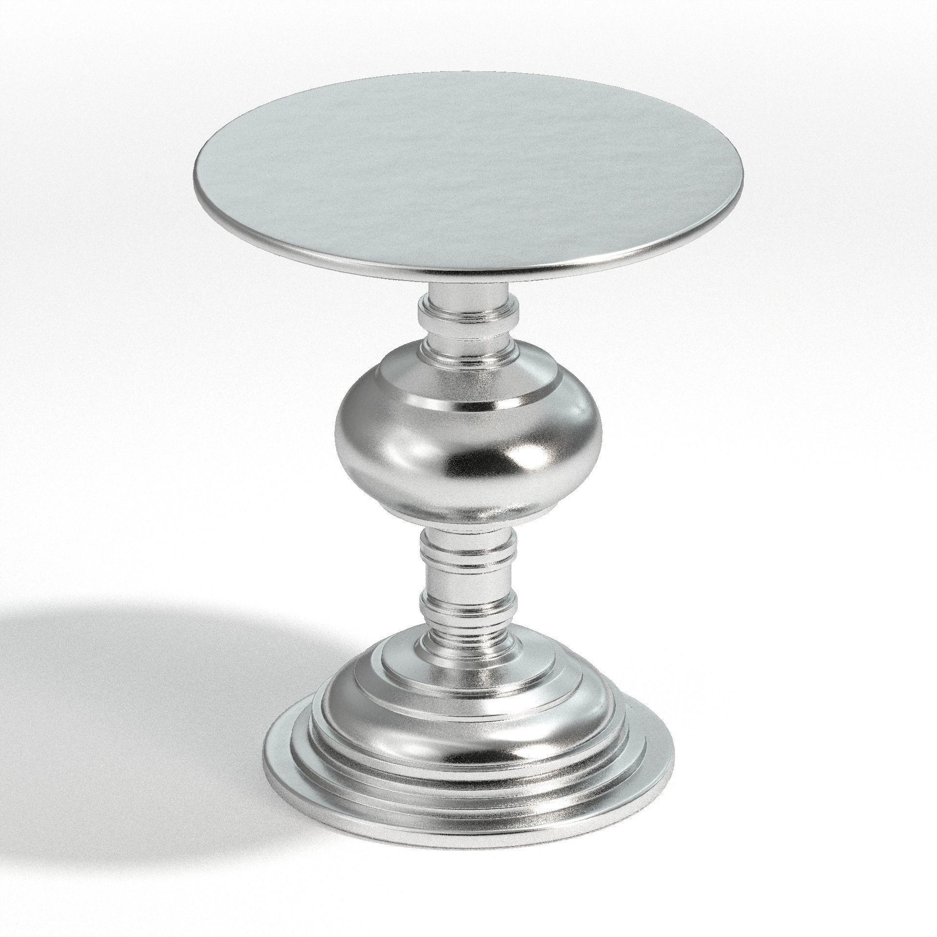 Picture of: 3d Bernhardt Aubrey Round Chair Side Table Cgtrader