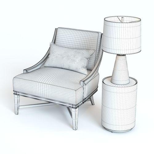 ... Baker Nob Hill Lounge Chair 3d Model Max Obj Mtl Fbx 4 ...