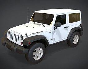 3D model VR / AR ready Jeep Wrangler Rubicon