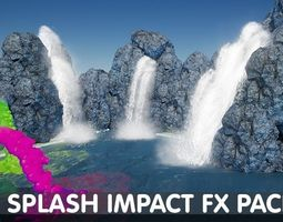 3D asset Splash Impact Pack - Unreal Engine 4