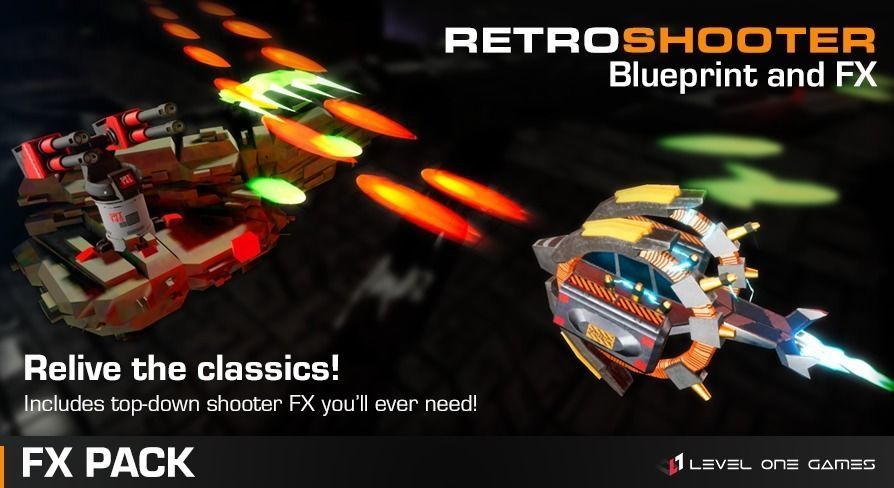 Retro Shooter FX Pack - Unreal Engine 4 | 3D model