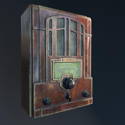 radio 3d model max obj mtl 3ds fbx c4d 1