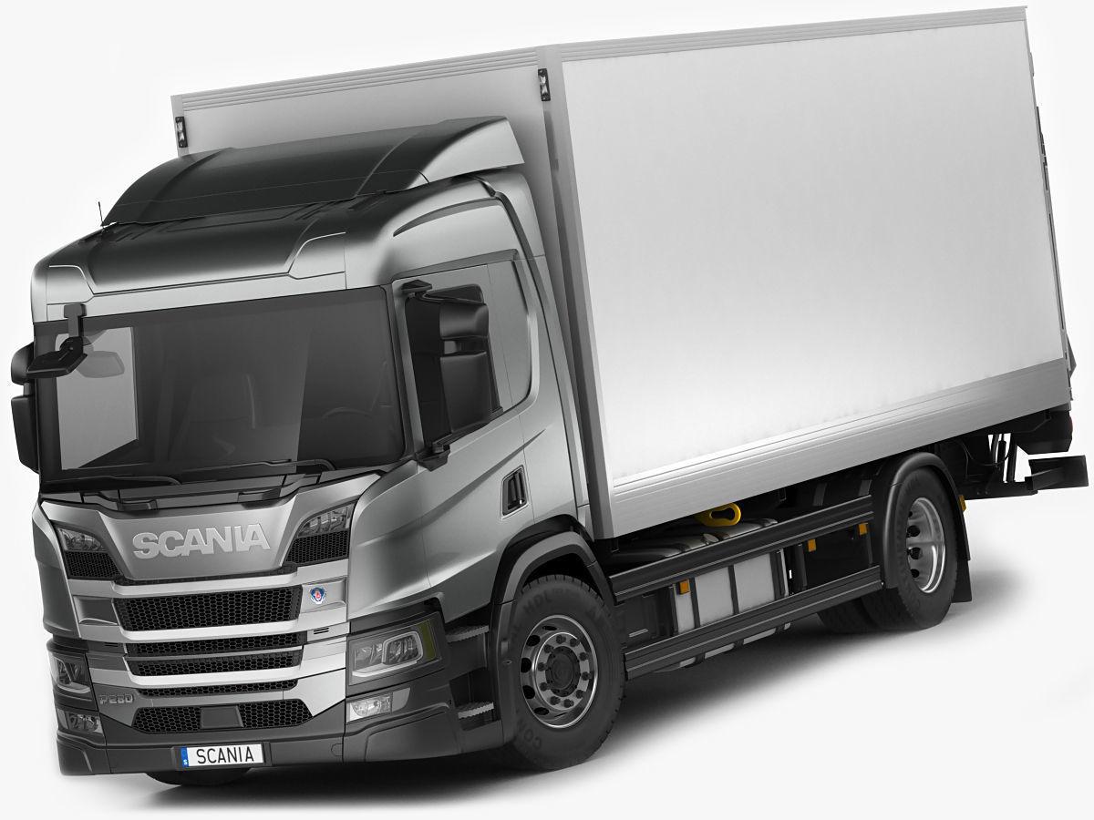 Scania P-series 2018 rigid truck | 3D model