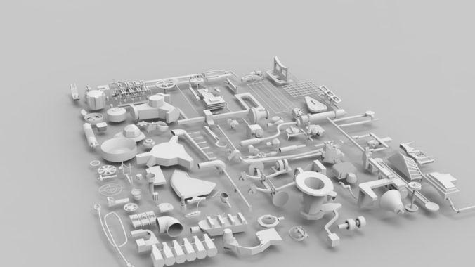 Kitbash | 3D model