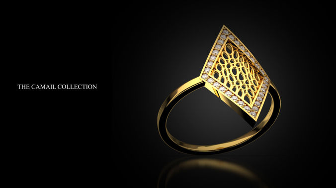 ring rhomb 3d model stl 3dm 1