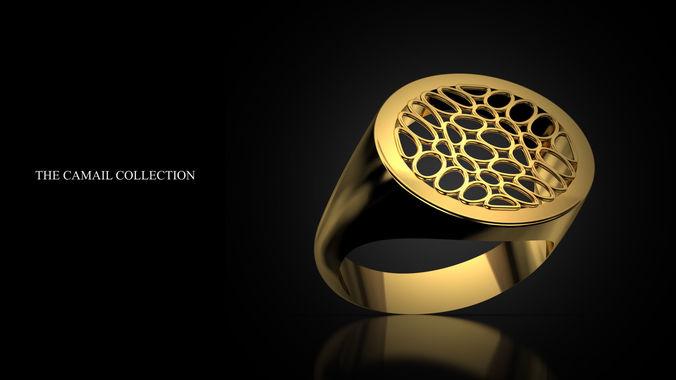 ring signet 3d model stl 3dm 1