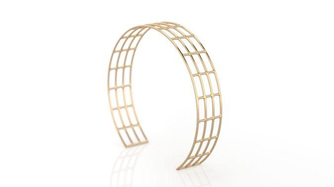 lines bracelet 3d model stl 3dm 1