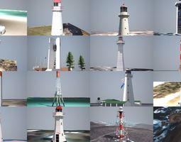 3D model Australian Lighthouses