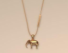 Pendant Elephant 3D print model