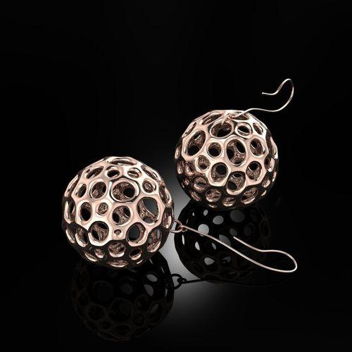 voronoi earrings 3d model obj mtl 3dm 1