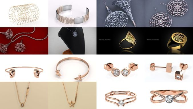 modern and fashionable jewelry 3d model obj mtl stl 3dm 1