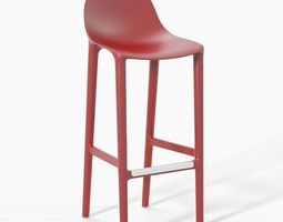 3D Broom Barstool