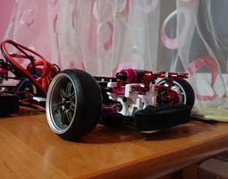 Front bumper mount for rc drift 3D printable model 3