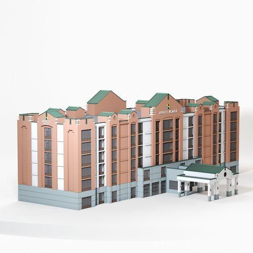hyatt place dublin 3d model max obj mtl fbx 1