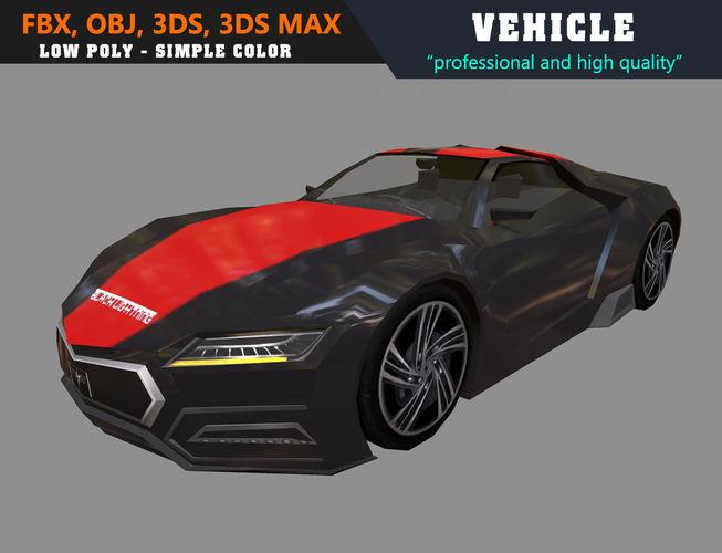 low poly simple car heiseshandian 3d model max obj mtl 3ds fbx 1