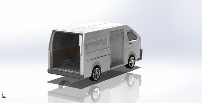 toyota hiace  3d model sldprt sldasm slddrw pdf 1