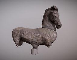 old broken horse statue 3D model