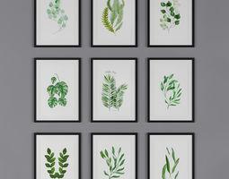 3D model Botanica Painting frame Canvas art set